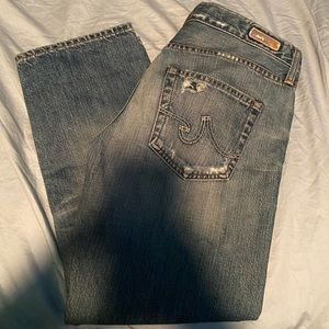 AG straight crop jeans